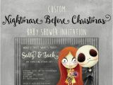 Nightmare before Christmas Baby Shower Invitations Free Download Nightmare before Christmas Baby Shower Invitation Custom