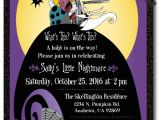 Nightmare before Christmas Baby Shower Invitations Free Download Nightmare before Christmas Baby Shower Invitation [di 4525
