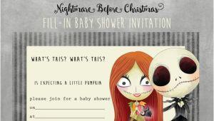 Nightmare before Christmas Baby Shower Invitations Free Download Nightmare before Christmas Baby Shower Invitation Instant