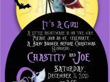 Nightmare before Christmas Baby Shower Invitations Templates Free Nightmare before Christmas Baby Shower Invite