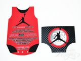 Nike Jordan Baby Shower Invitations Air Jordan Inspired Collection Printable by