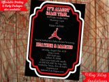 Nike Jordan Baby Shower Invitations Basketball Air Man Baby Shower Invitation by