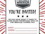 Ninja Birthday Party Invitation Template Free American Ninja Warrior Birthday Party Our Handcrafted Life
