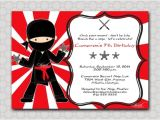 Ninja Birthday Party Invitation Template Free Ninja Birthday Invitation Printable Party by Swishprintables