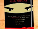 Ninja Birthday Party Invitation Template Free Ninja Birthday Invitations Karate Kicks Birthday Card Modern