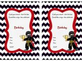 Ninja Birthday Party Invitation Template Free Ninja Warriors Birthday Invitations Birthday Printable