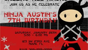 Ninja Birthday Party Invitation Template Free Printable Ninjago Birthday Invitation Free