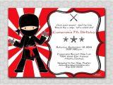 Ninja Birthday Party Invitation Template Ninja Birthday Invitation Printable Party by Swishprintables
