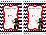 Ninja Birthday Party Invitation Template Ninja Warriors Birthday Invitations Birthday Printable