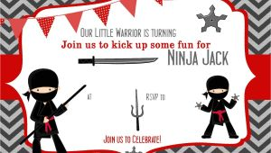 Ninja Party Invitation Template Free Pin by Bagvania Invitation On Bagvania Invitation Ninja