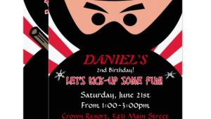 Ninja Warrior Birthday Invitation Template Free Ninja Warrior Birthday Invitation Zazzle Com