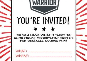 Ninja Warrior Birthday Party Invitations American Ninja Warrior Birthday Party Our Handcrafted Life