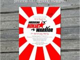 Ninja Warrior Birthday Party Invitations American Ninja Warrior Digital Birthday by Swishprintables