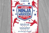 Ninja Warrior Birthday Party Invitations American Ninja Warrior Invitation Ninja Warrior Invite