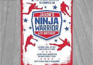 Ninja Warrior Birthday Party Invitations American Ninja Warrior Invitation Ninja Warrior Invite