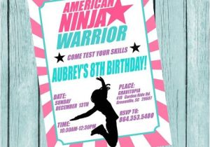 Ninja Warrior Birthday Party Invitations American Ninja Warrior Printable Invitation by