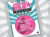 Ninja Warrior Birthday Party Invitations Girl Ninja Warrior Invitation Ninja Warrior Girl Party Girls