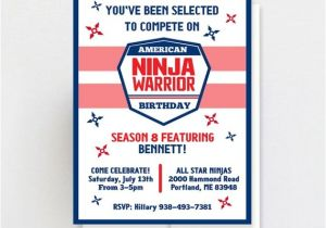 Ninja Warrior Birthday Party Invitations Printable American Ninja Warrior Invitation Ninja Warrior
