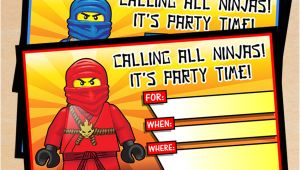 Ninjago Birthday Party Invitation Template Free Free Printable Lego Ninjago Birthday Invitation Set