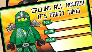 Ninjago Party Invitation Template Free Free Printable Lego Ninjago Birthday Invitation Set