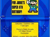 Nintendo Ds Birthday Party Invitations Diy Printable Video Game Birthday Party Invitation Video