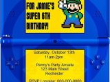 Nintendo Party Invitations Diy Printable Video Game Birthday Party Invitation Video
