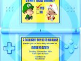 Nintendo Party Invitations Diy Printable Video Game Shower Party Invitation Video