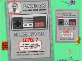 Nintendo Party Invitations Nintendo Boy Birthday Invitation Video Game Party