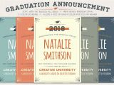 Non Photo Graduation Invitations Graduation Announcement Invitation Templates Creative