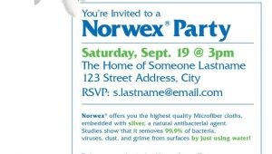 Norwex Party Invitation norwex Party Invitation