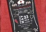 Nurse Graduation Invitations Printable Nurse Graduation Party Invitation Chalkboard Style 4×6 or 5×7