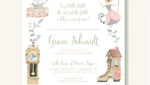 Nursery Rhyme Baby Shower Invitations Nursery Rhyme Baby Shower Invitation Cow Jumped Over the