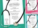 Nursing Grad Party Invitations Graduation Nursing School Invitation