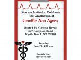 Nursing Grad Party Invitations Personalized Nursing School Graduation Invitations
