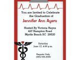 Nursing Graduation Party Invitations Card Nurse Graduation Party Invitation Zazzle