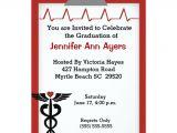 Nursing Graduation Party Invitations Templates Personalized Nursing School Graduation Invitations