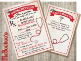 Nursing School Graduation Invitation Medical School or Nursing School Graduation Prescription