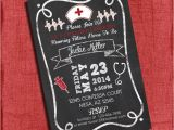 Nursing School Graduation Invitation Nurse Graduation Party Invitation Chalkboard Style 4×6 or 5×7