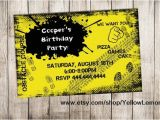 Obstacle Course Birthday Party Invitations Obstacle Birthday Party Invitation Digital File Mud Dirt