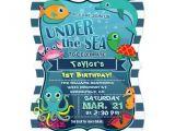 Ocean theme Party Invitations Colorful Kid 39 S Sea Life Birthday Party Invitation Zazzle