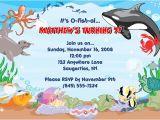 Ocean theme Party Invitations Fish Ocean Sea Birthday Party Invitations Fish Ocean Sea