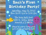 Ocean theme Party Invitations Ocean theme First Birthday Invitation 1st 2nd 3rd Birthday