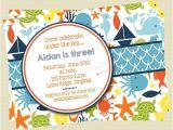 Ocean theme Party Invitations Under the Sea Birthday Invitations Sea Creature Birthday