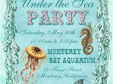 Ocean theme Party Invitations Under the Sea Birthday Party Invitations Eysachsephoto Com