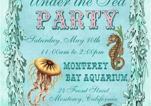 Ocean theme Party Invitations Under the Sea Birthday Party Invitations Eysachsephoto Com