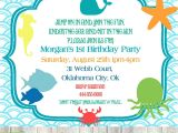 Ocean theme Party Invitations Under the Sea Invitations Birthday Best Party Ideas