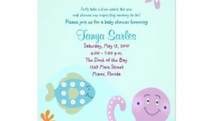 Octopus Baby Shower Invitations Octopus Sealife Ocean 5×7 Baby Shower Invitation