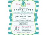 "Octopus Baby Shower Invitations Turquoise & Yellow Octopus Baby Shower Invitation 5"" X 7"