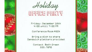 Office Holiday Party Invitation Template Christmas Holiday Office Party Invitations Zazzle Com