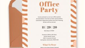 Office Party Invitation Template 10 Office Party Invitations Psd Ai Word Free